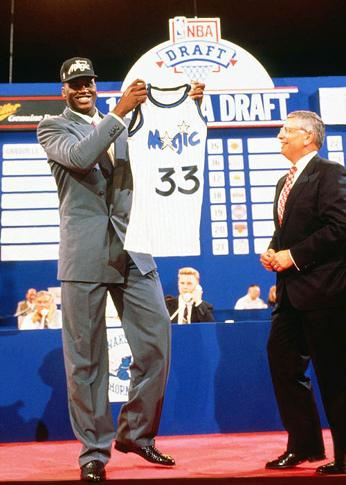 1991 NBA Draft - Orlando Magic first round draft choice Shaquille O'Neal